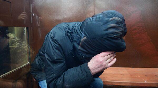 Муртаз Шадания, обвиняемый в причастности к убийству в 2009 году криминального авторитета Вячеслава Иванькова (Япончика), в Басманном суде. 6 февраля 2020