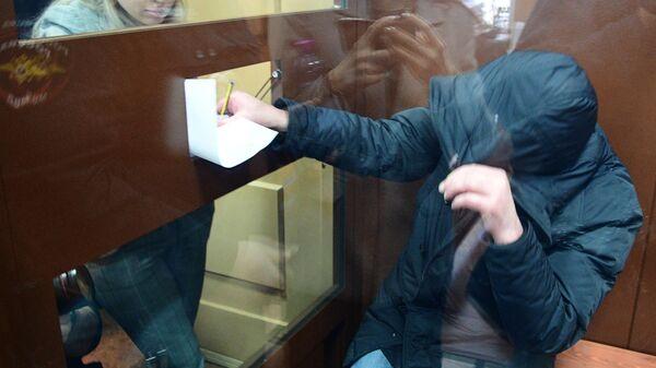 Муртаз Шадания, обвиняемый в причастности к убийству в 2009 году криминального авторитета Вячеслава Иванькова (Япончика), в Басманном суде