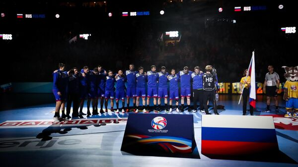 Российские гандболисты на чемпионате Европы