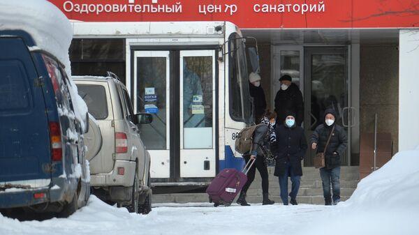 Граждане КНР в центре наблюдения на базе санатория Бодрость в Свердловской области