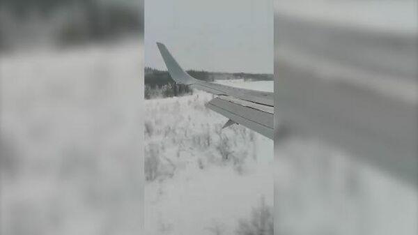Жесткая посадка самолета в Усинске