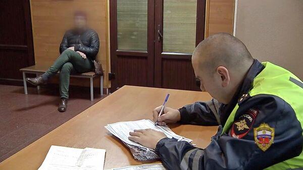 Задержание водителя, за которым числится более 2 тысяч нарушений ПДД