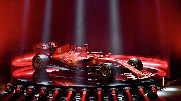This photo taken and handout on February 11, 2020 by the Ferrari Press Office shows the new Ferrari Formula One SF1000 unveiled during a ceremony at Teatro Romolo-Valli in Reggio Emilia. (Photo by Handout / FERRARI PRESS OFFICE / AFP) / RESTRICTED TO EDITORIAL USE - MANDATORY CREDIT AFP PHOTO / FERRARI PRESS OFFICE - NO MARKETING NO ADVERTISING CAMPAIGNS - DISTRIBUTED AS A SERVICE TO CLIENTS