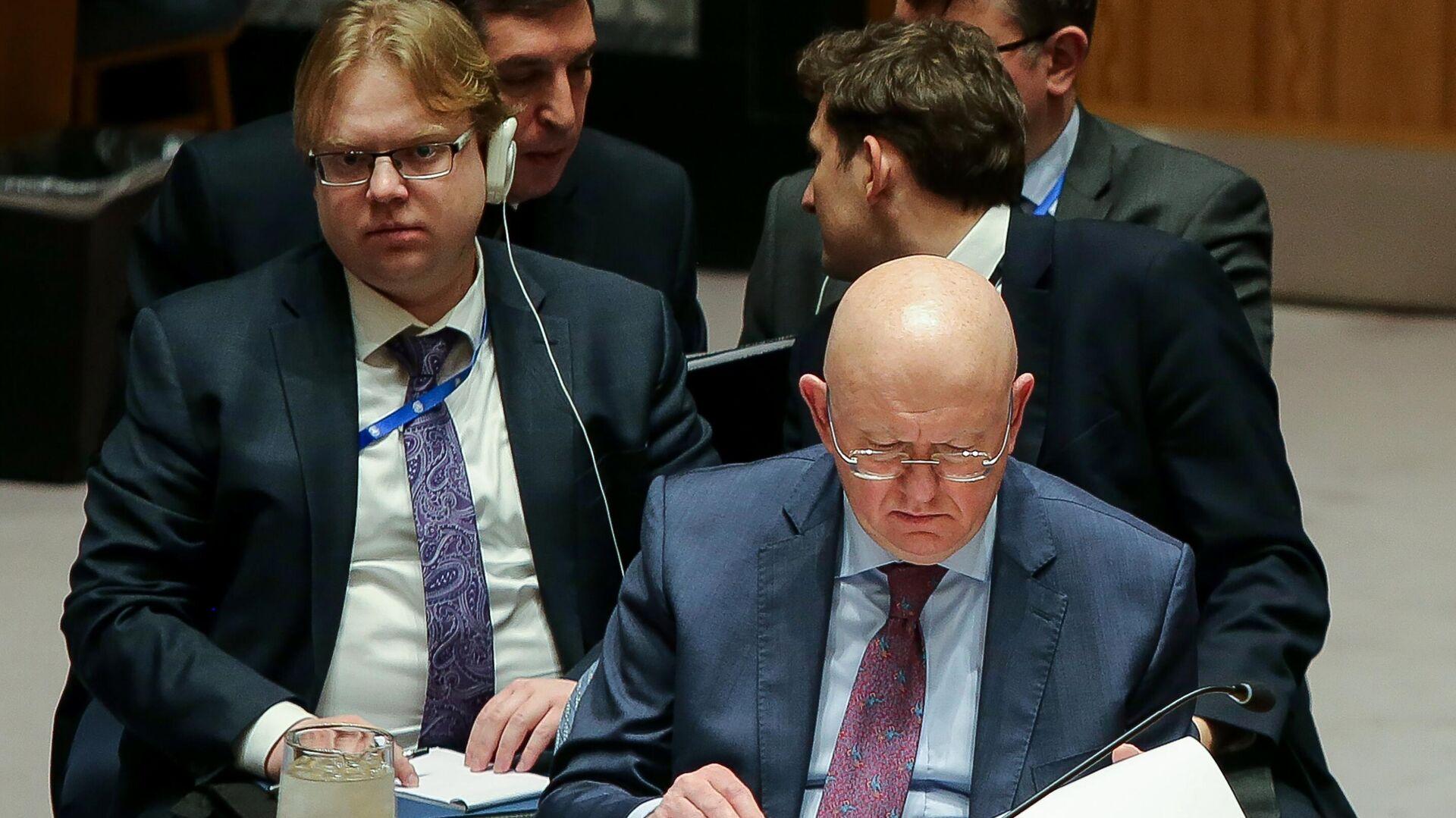 Постоянный представитель РФ при ООН Василий Небензя на заседании Совета безопасности ООН в Нью-Йорке - РИА Новости, 1920, 21.09.2020