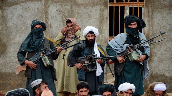 Боевики радикального движения Талибан* в Афганистане