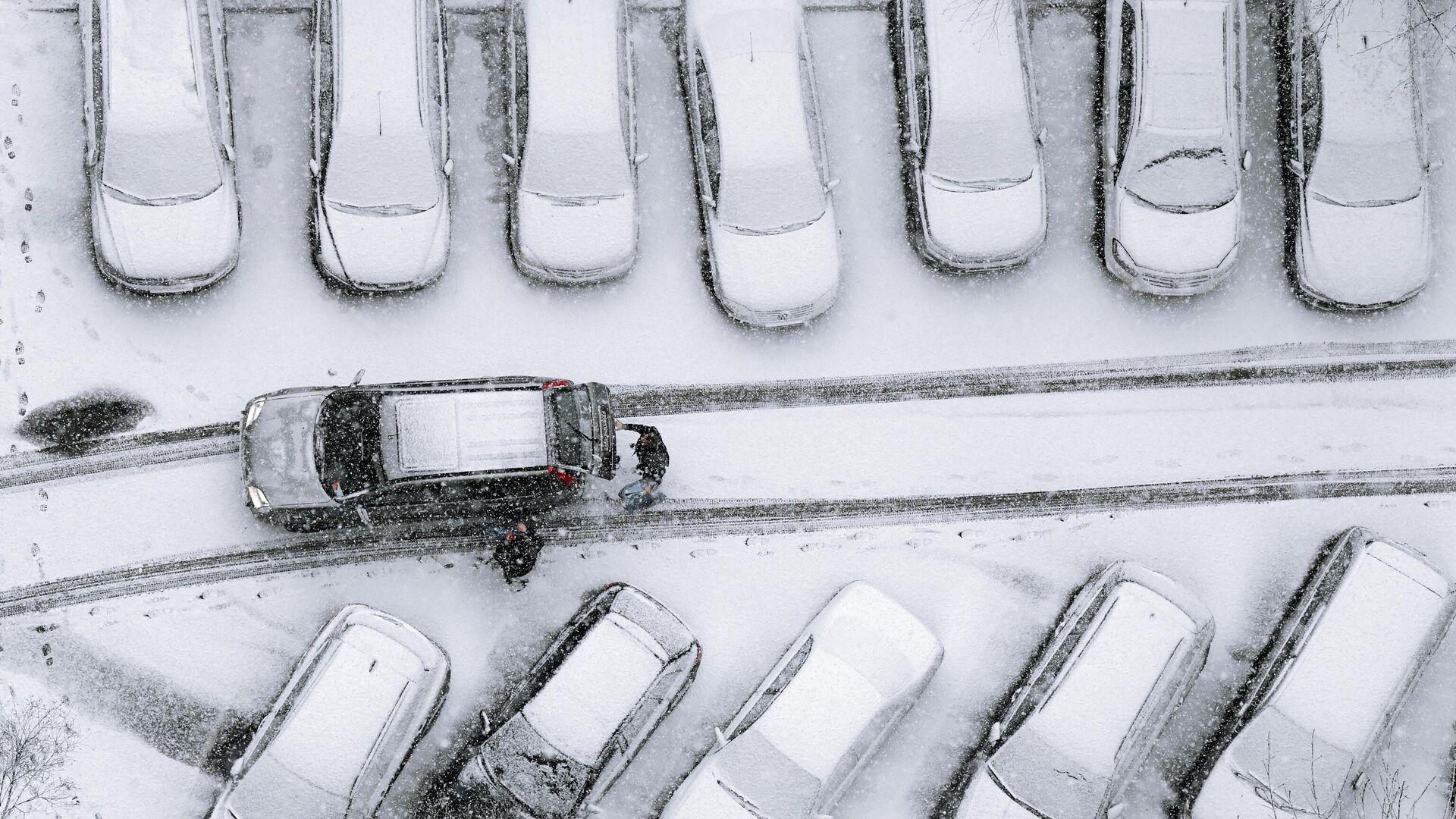 Снегопад в Москве - РИА Новости, 1920, 21.11.2020