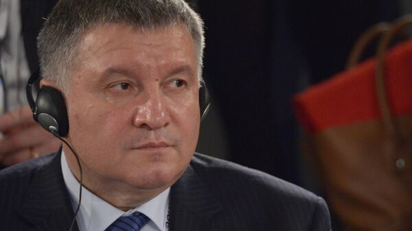 Министр внутренних дел Украины Арсен Аваков на Мюнхенской конференции по безопасности в Мюнхене