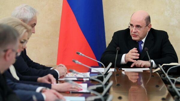 Председатель правительства РФ Михаил Мишустин проводит оперативное совещание с членами правительства. 17 февраля 2020