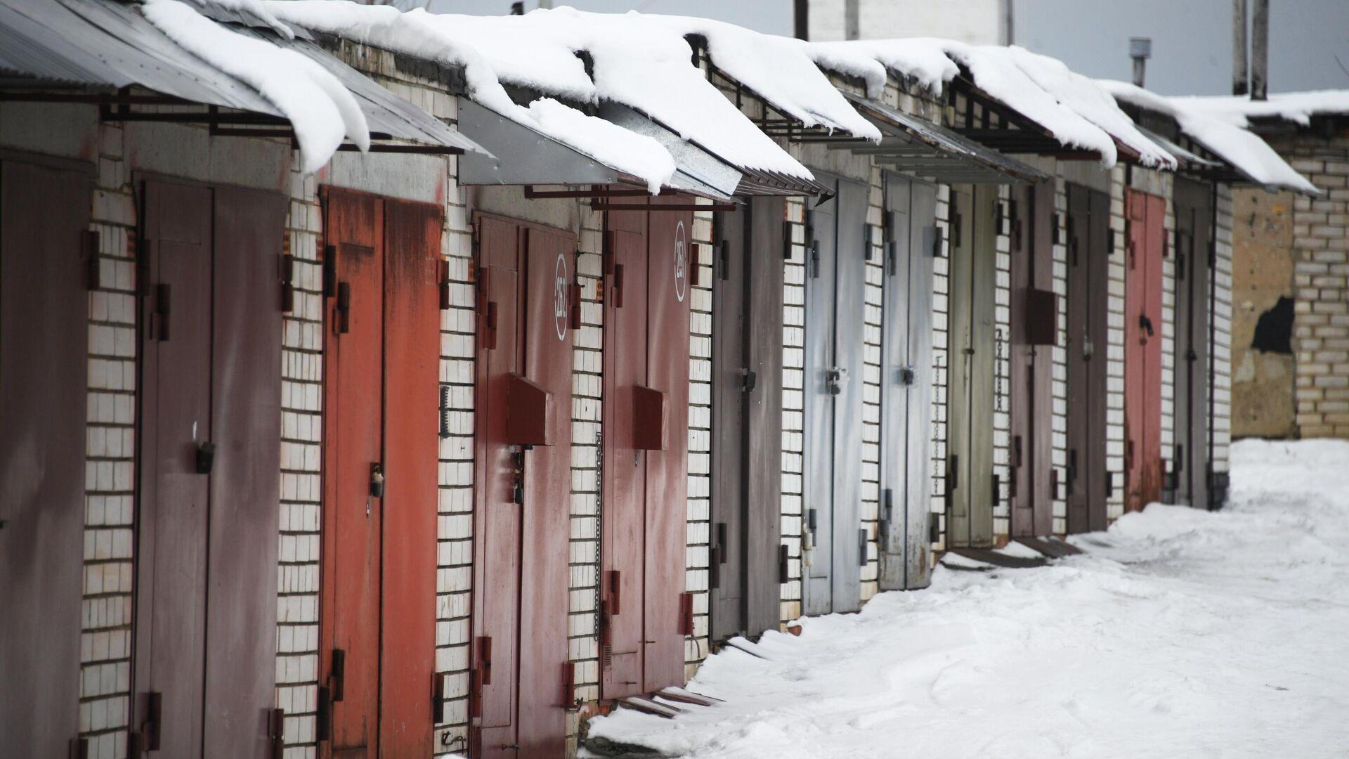 Частные гаражи в Москве - РИА Новости, 1920, 01.02.2021