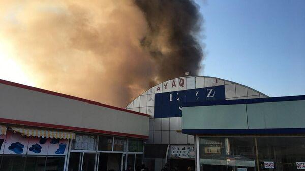 Пожар в торговом центре Садарак в Баку, Азербайджан