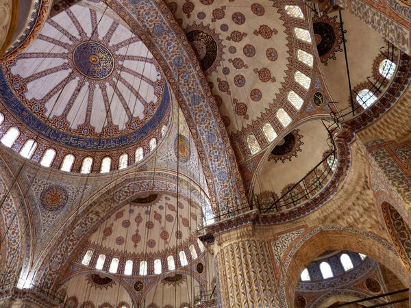 Потолок Голубой мечети в Стамбуле