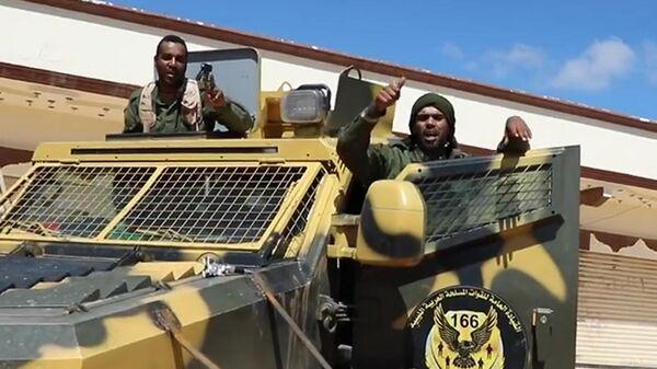 Военнослужащие армии Халифы Хафтара