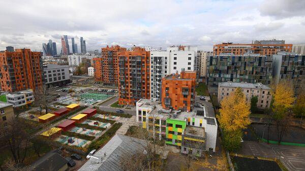 Новый жилой комплекс в районе Красная Пресня в Москве