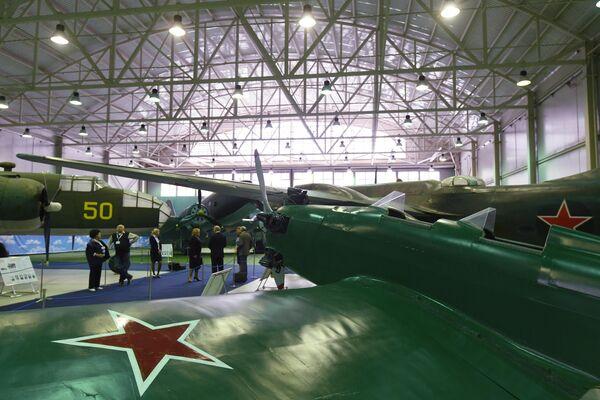 На открытии экспозиции Самолеты Великой Отечественной войны