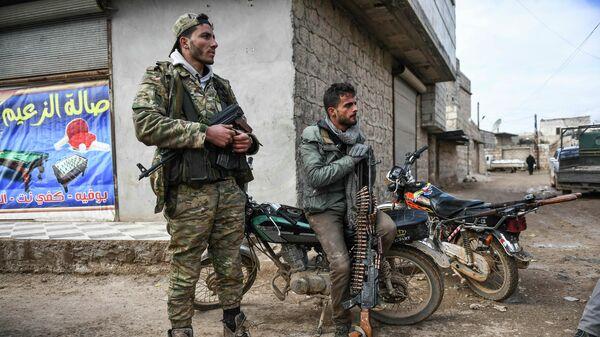 Сирийские повстанцы в Идлибе