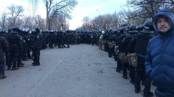 Ситуация в Новых Санжарах Полтавской области