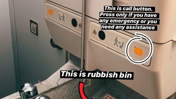 Руководство по использованию туалета в самолете
