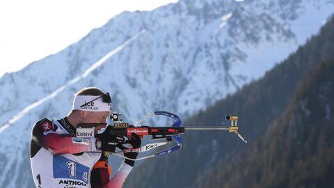 Норвежский биатлонист Йоханнес Бё