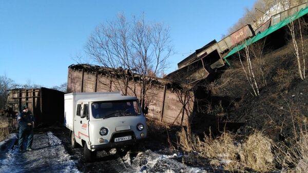 Сход вагонов на участке Архара - Облучье, Амурской области. 25 февраля 2020