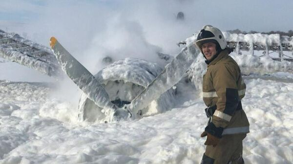 На месте аварийной посадке самолета Ан-2 в Казахстане