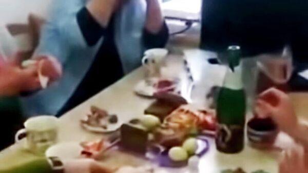 Кадр из видео, снятого в Терской районной больнице