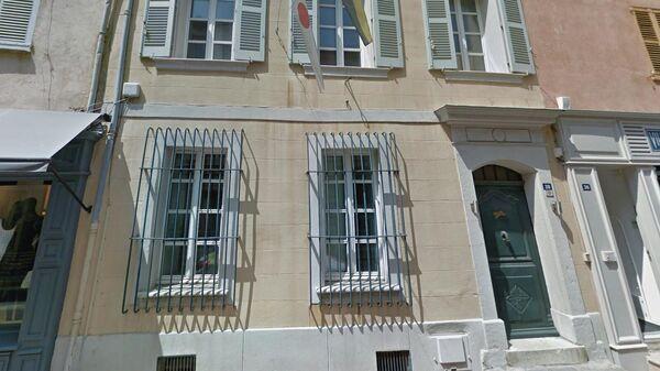 Скриншот карты Google с изображением дома священника в Сен-Тропе