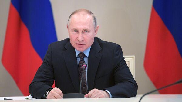 Президент РФ Владимир Путин проводит совещание по наиболее актуальным международным проблемам