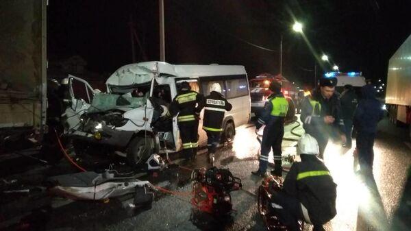 Последствия ДТП на 335-м километре автодороге М7 Волга в городе Гороховец Владимирской области