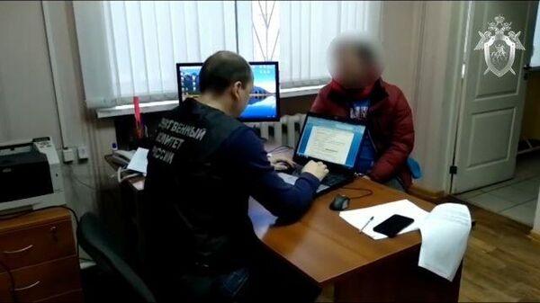 Кадры задержания мужчины, подозреваемого в похищении 8-летней девочки