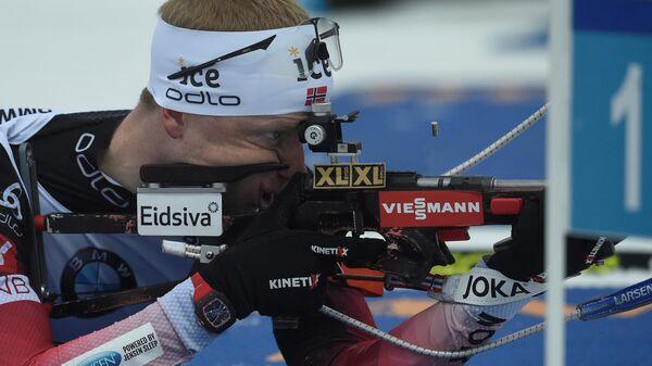 Биатлонист Йоханнес Бё (Норвегия)