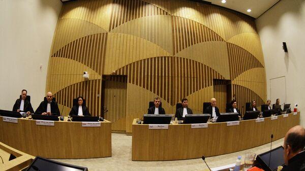 Заседание суда в комплексе правосудия Схипхол в нидерландском Бадхоеведорпе по делу о крушении самолета Boeing 777 рейса MH17. 9 марта 2020