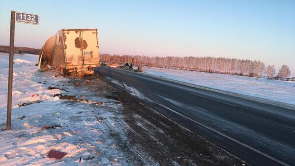 ДТП в Барабинском районе на 1132 км автодороги Р-254