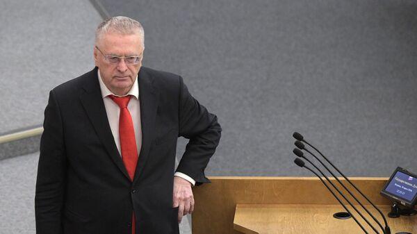 Владимир Жириновский на пленарном заседании Госдумы РФ
