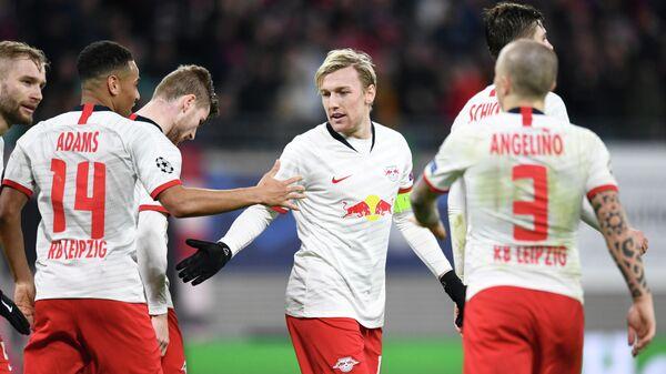 Футболисты немецкого Лейпцига