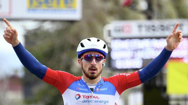 Итальянский велогонщик Никколо Бонифацио