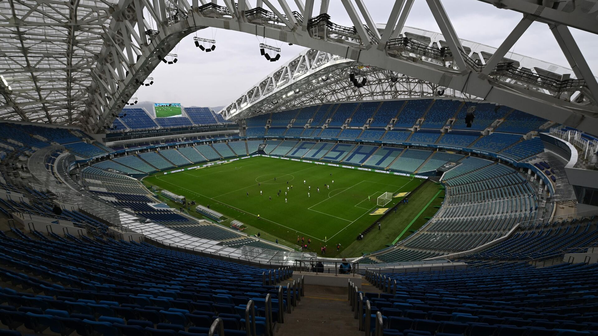 Пустые трибуны стадиона Фишт в Сочи - РИА Новости, 1920, 28.09.2020
