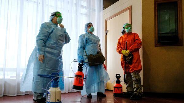 Санитарная обработка в конгресс-отеле Меридиан в Мурманске