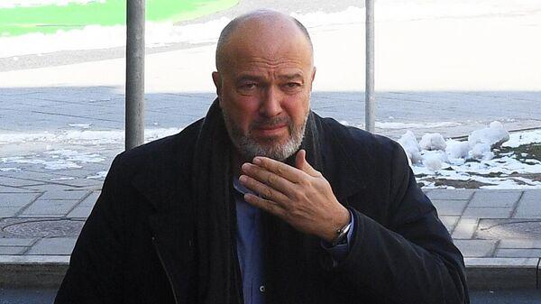 Генеральный директор ФК Локомотив Василий Кикнадзе перед началом заседания Российской футбольной премьер-лиги в Москве.