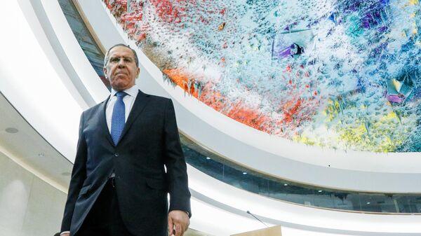Министр иностранных дел РФ Сергей Лавров на сегменте высокого уровня 43-й сессии Совета ООН по правам человека (СПЧ)