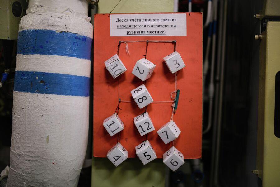 График вахт экипажа атомной подводной лодки Северодвинск