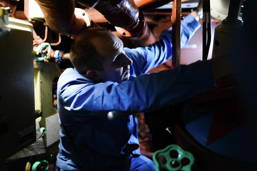 Учения по ликвидации течи на атомной подводной лодке Северодвинск