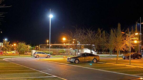 Черногория. Автостоянка у аэропорта Подгорицы 18 марта 2020 года