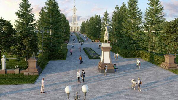 Проект благоустройства парка Северного речного вокзала