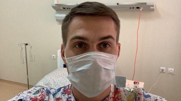 Виталий Миронов в палате инфекционной больницы в Коммунарке