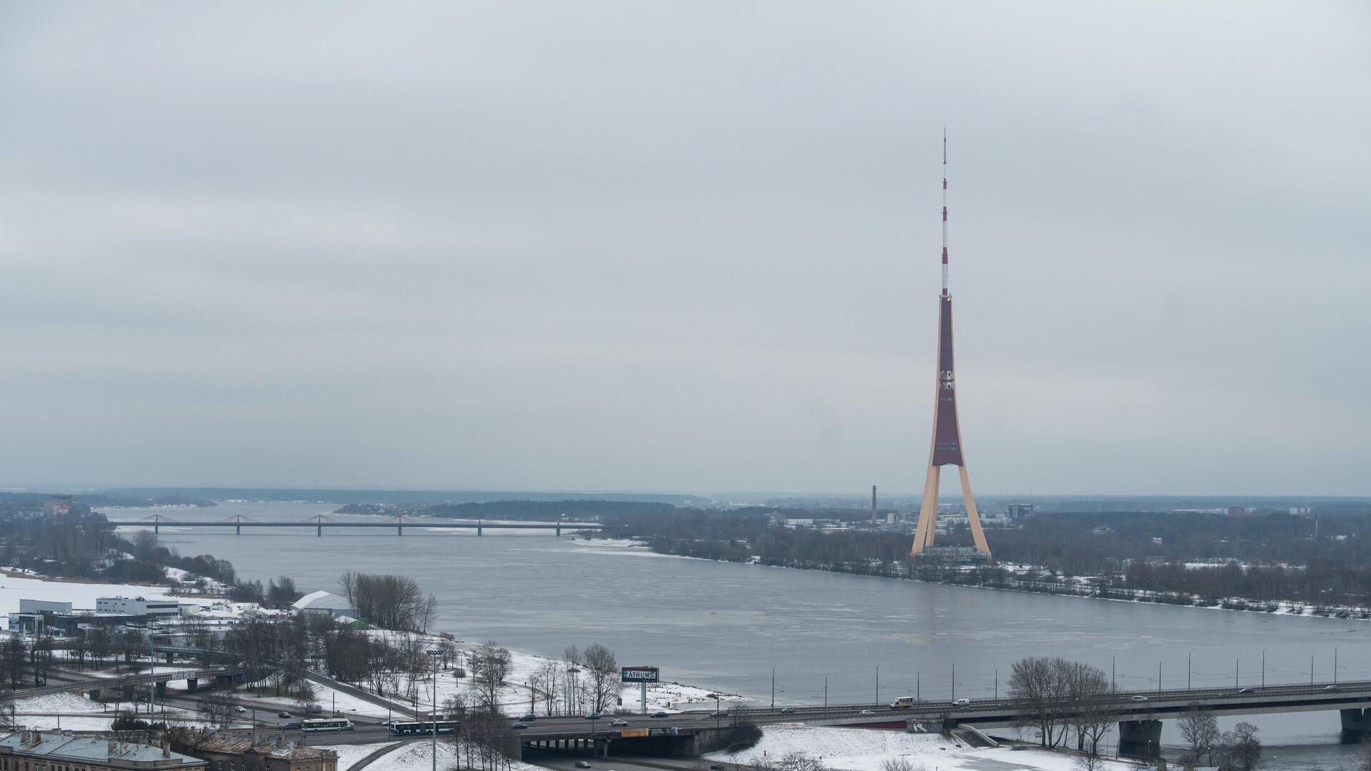 Вид на телевизионную башню Риги - РИА Новости, 1920, 06.05.2021
