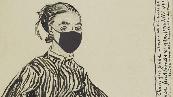 Коллаж рисунка Ван Гога