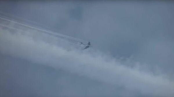 Полет ракетоносцев Ту-95МС над нейтральными водами Японского моря и Тихого океана