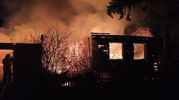 Пожар в частном жилом доме в городе Нижний Ломов