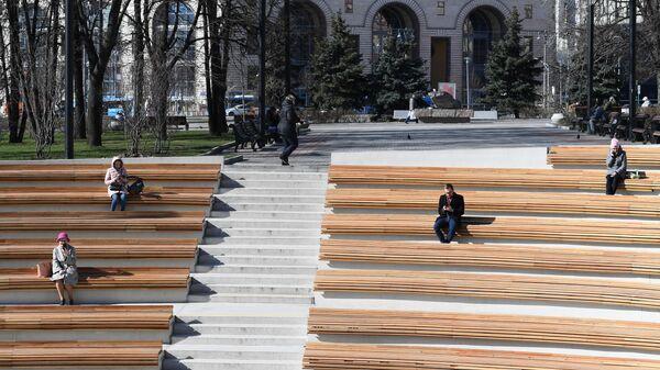 Амфитеатр в Музейном парке  в Москве