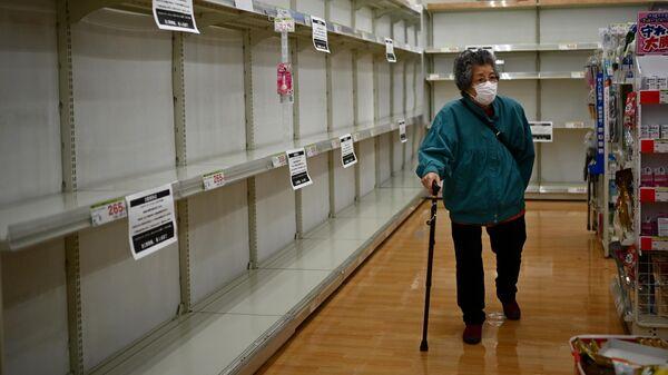 Магазин в Токио во время ситуации с COVID-19